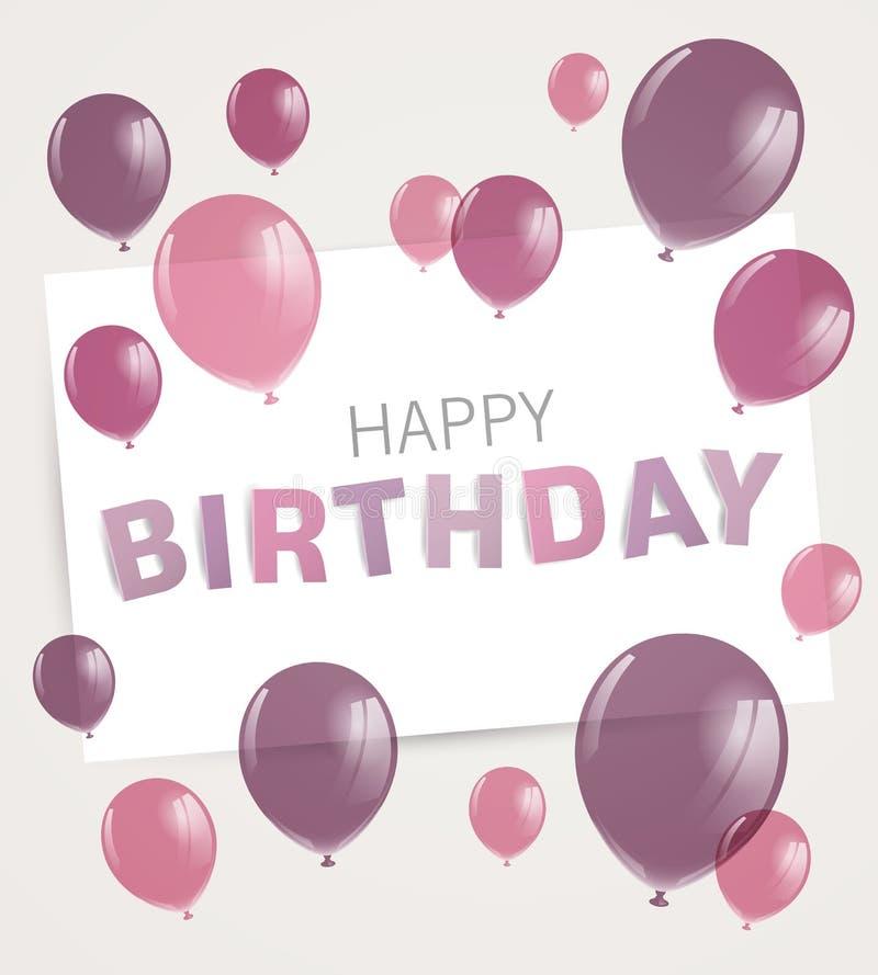 приветствие поздравительой открытки ко дню рождения счастливое стоковое фото