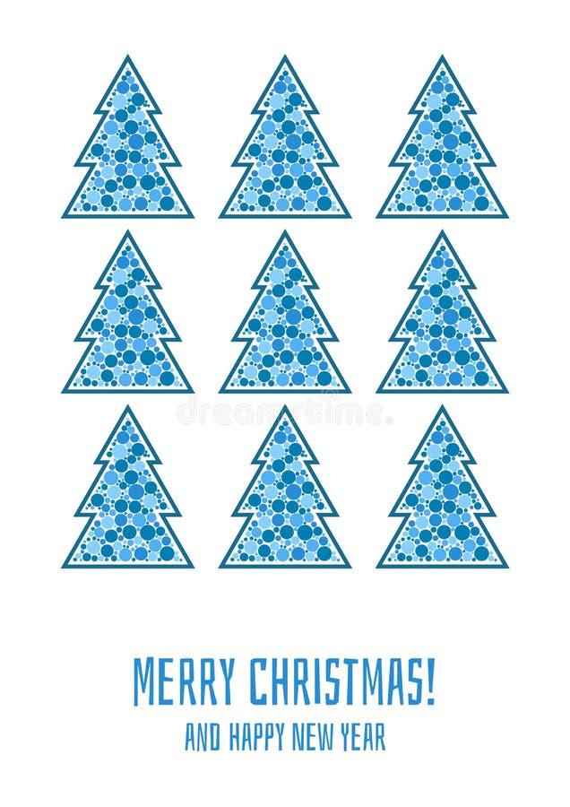 приветствие рождества карточки веселое иллюстрация вектора