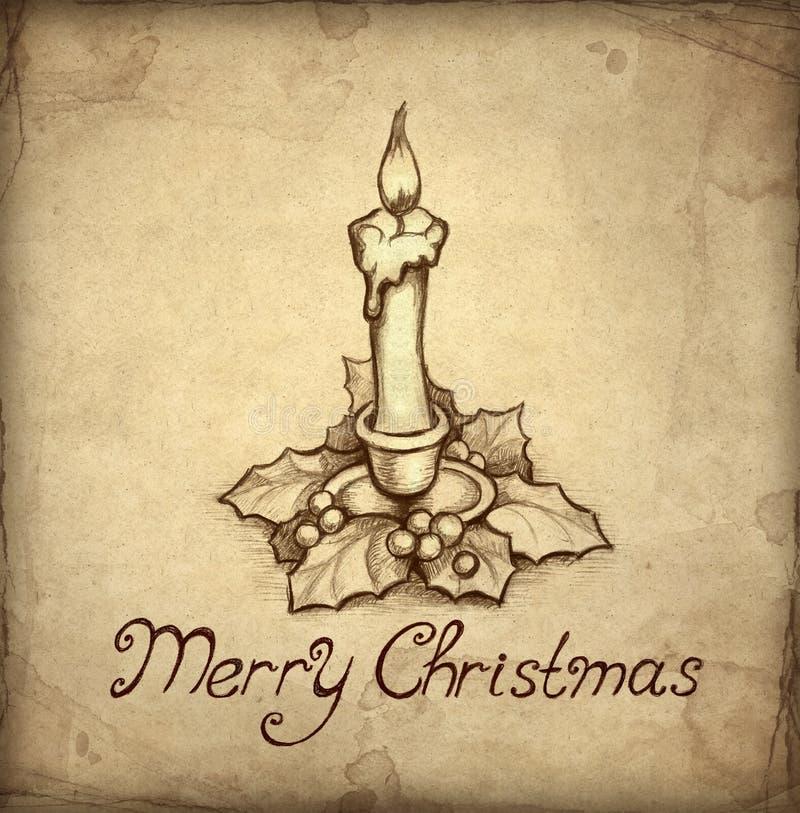 приветствие рождества карточки старое иллюстрация штока