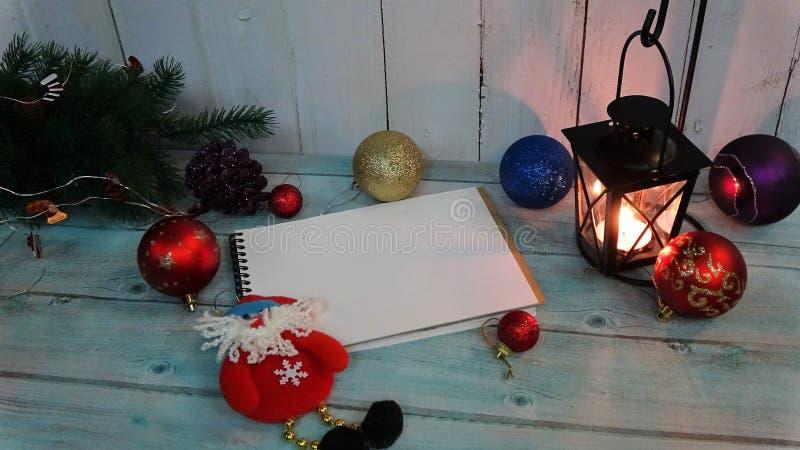 приветствие рождества карточки украшение скопируйте космос для вашего текста Модель-макет Оформление ` s Нового Года Состав рожде стоковая фотография