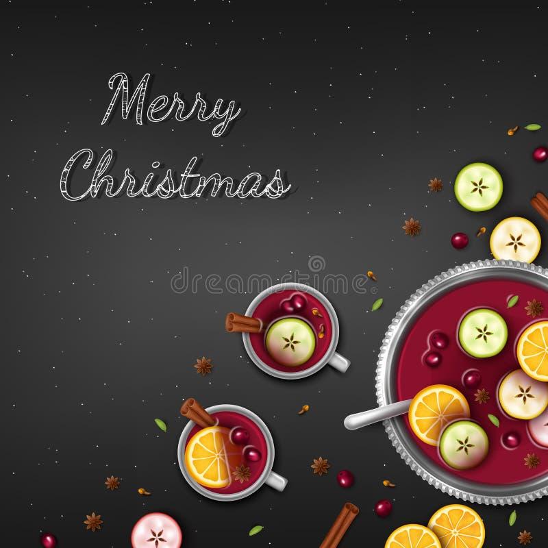 приветствие рождества предпосылки веселое E бесплатная иллюстрация