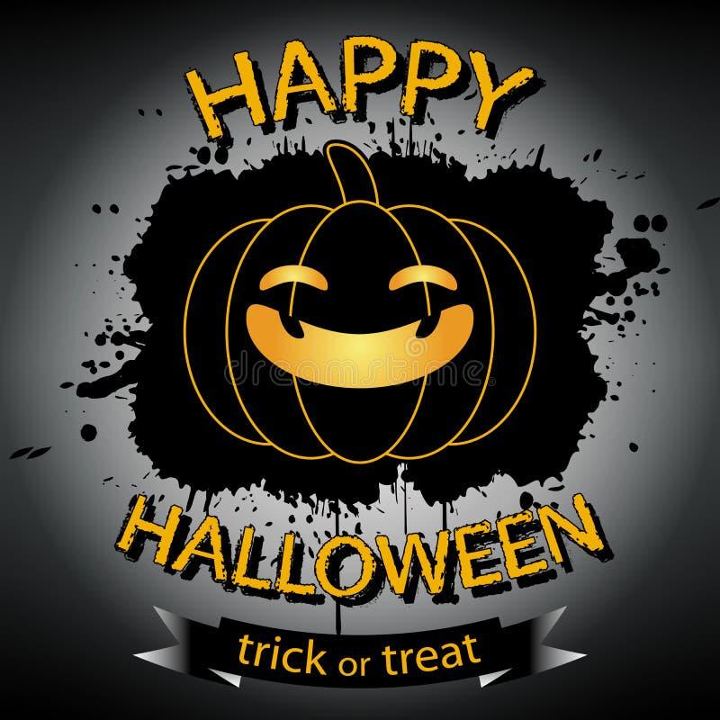 приветствие halloween карточки счастливый иллюстрация вектора