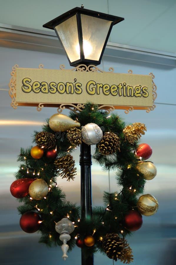 приветствовать сезонный знак стоковые фото