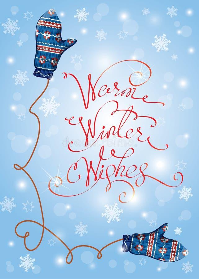 Приветствовать с Рождеством Христовым и счастливую карточку Нового Года с милой синью иллюстрация штока