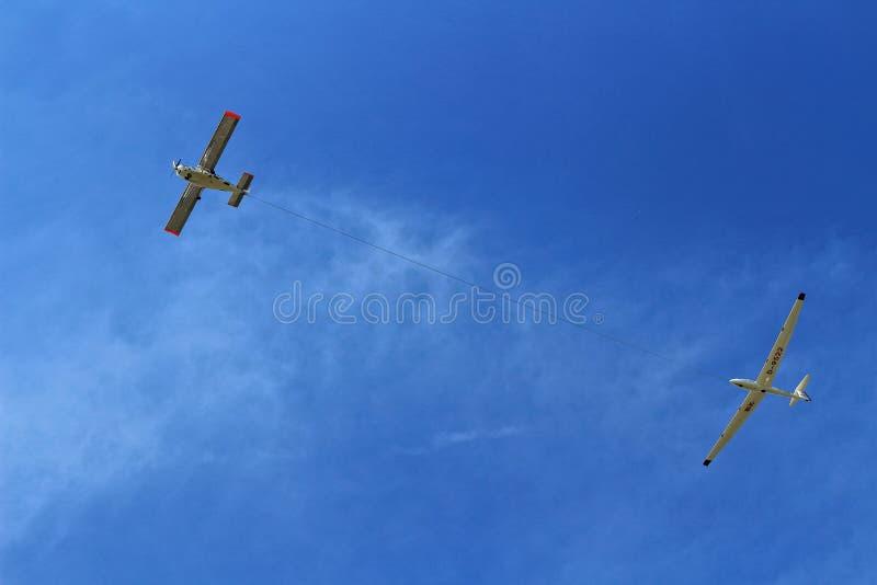 Приведенный в действие планер запуска летательного аппарата стоковое изображение rf