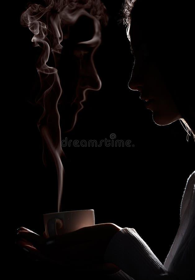 привидение кофе стоковая фотография rf