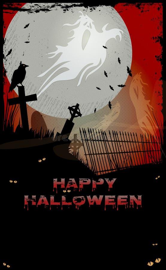 Привидение Halloween иллюстрация вектора