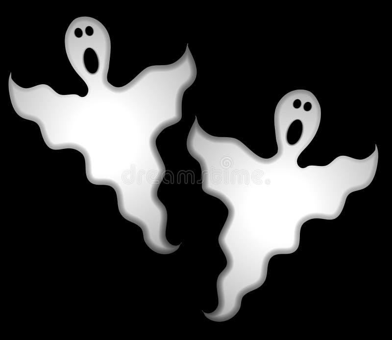 привидения halloween зажима искусства иллюстрация вектора
