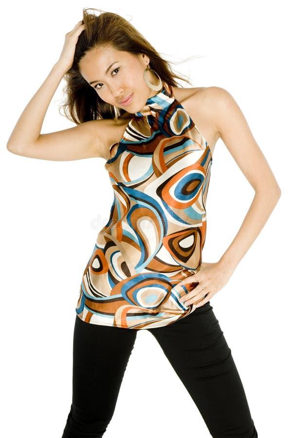 Привлекательная азиатская женщина стоковые фото