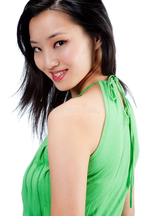 Привлекательная азиатская женщина стоковое изображение rf