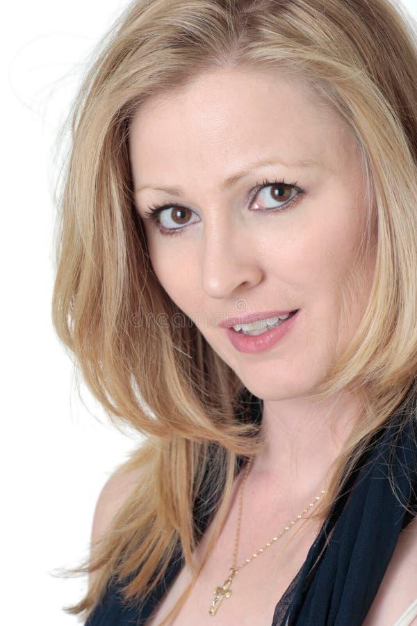 Download привлекательная белокурая женщина Стоковое Изображение - изображение насчитывающей привлекательностей, adulteration: 490223