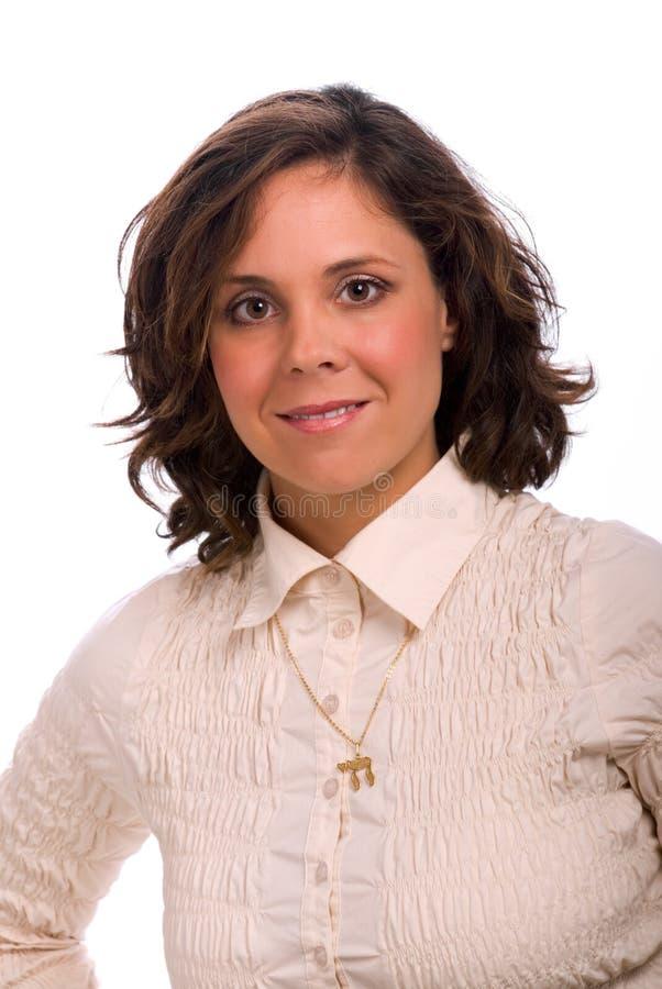 привлекательная еврейская женщина стоковые фотографии rf