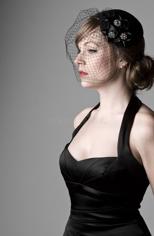 привлекательная женщина вуали стоковые фотографии rf