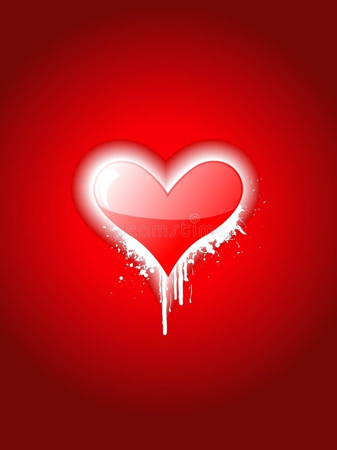 привлекательное сердце конструкции просто иллюстрация вектора