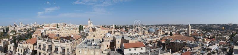 Привлекательности ландшафта Израиля Взгляд Иерусалима старого городка и нового города Взгляд от вершины башни Дэвид Старый стоковое изображение rf