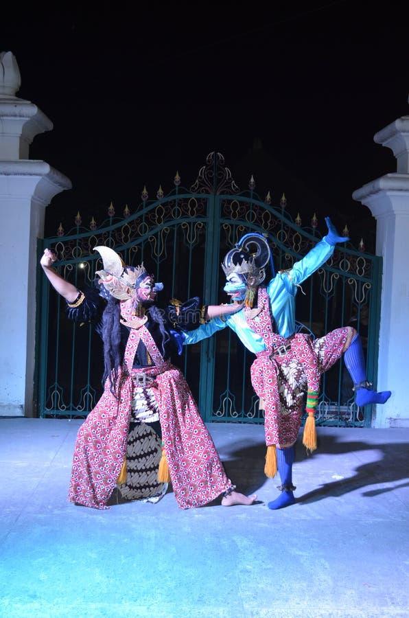 Привлекательности танца Ramayana на Jogja стоковая фотография rf