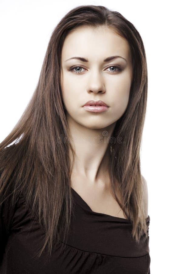 привлекательные волосы девушки длиной стоковое изображение