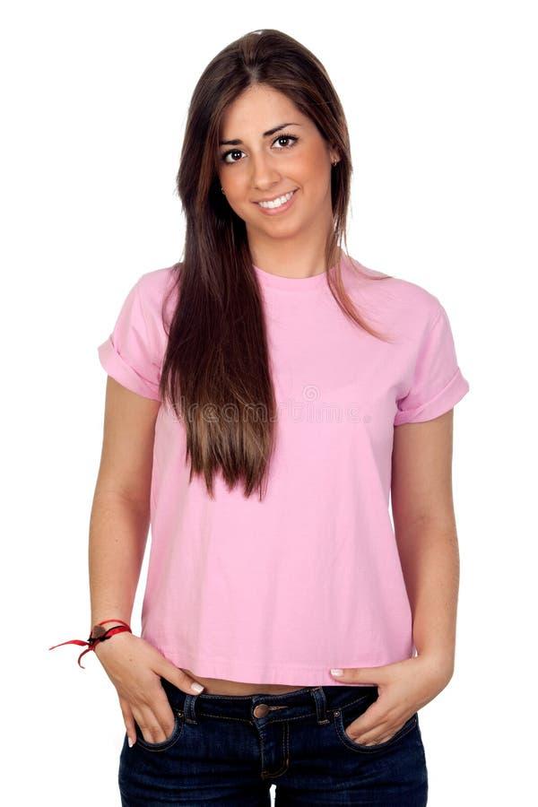 привлекательные волосы девушки длиной стоковые изображения rf