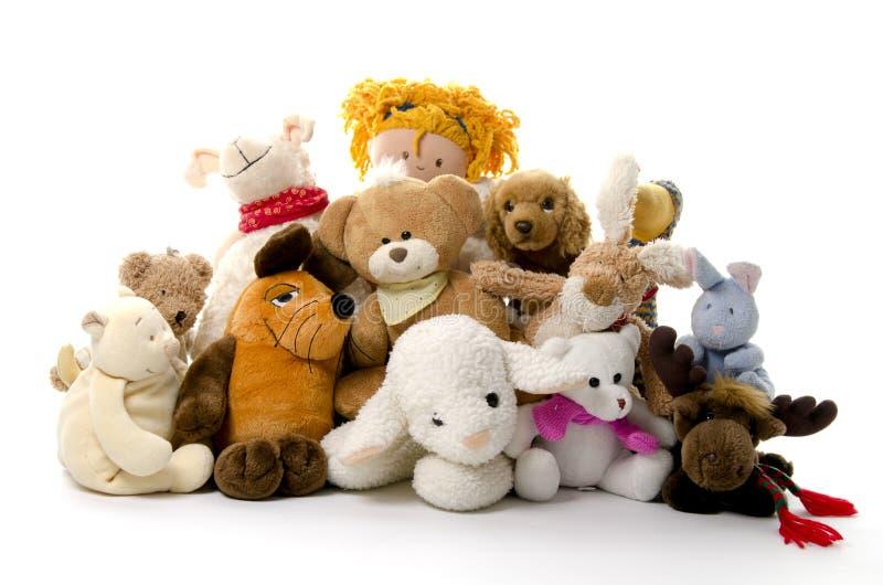 привлекательные игрушки группы стоковая фотография rf