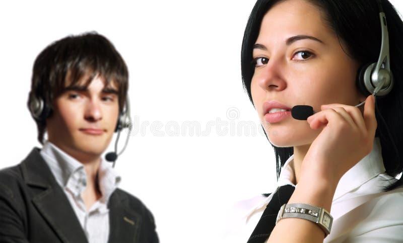 привлекательные операторы центра телефонного обслуживания стоковые изображения rf