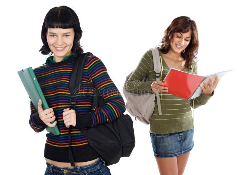 привлекательные студенты 2 стоковые фотографии rf