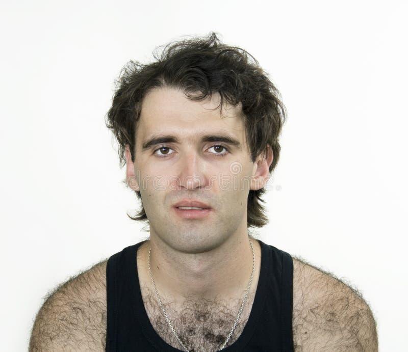 привлекательный волосатый человек стоковые фотографии rf
