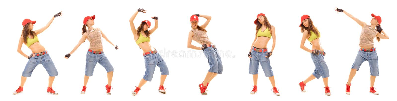 привлекательный комплект фото хмеля вальмы девушки стоковое фото rf