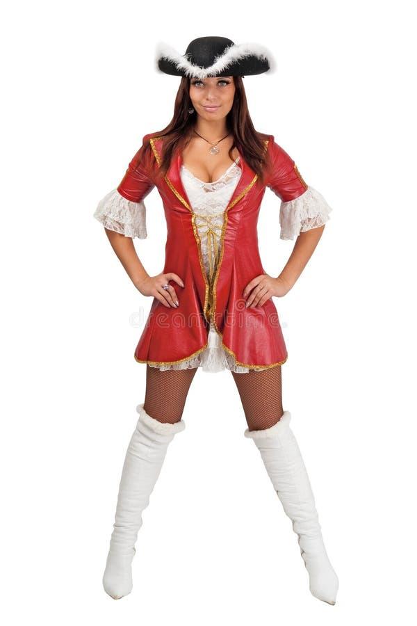 привлекательный пират девушки costume стоковые фото
