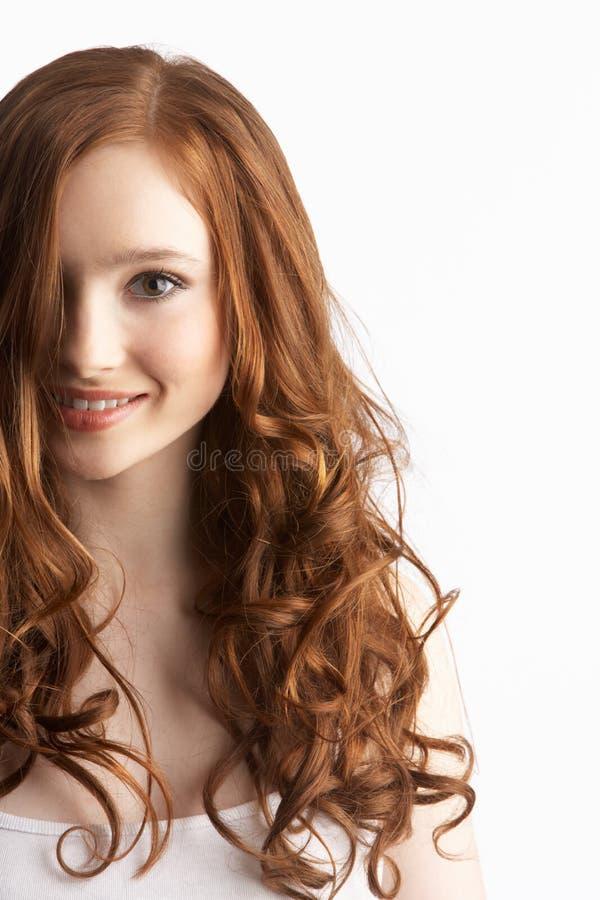 привлекательный портрет девушки подростковый стоковое изображение rf