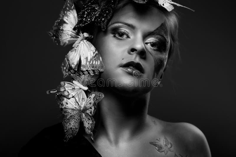 привлекательный портрет способа красотки стоковое фото rf