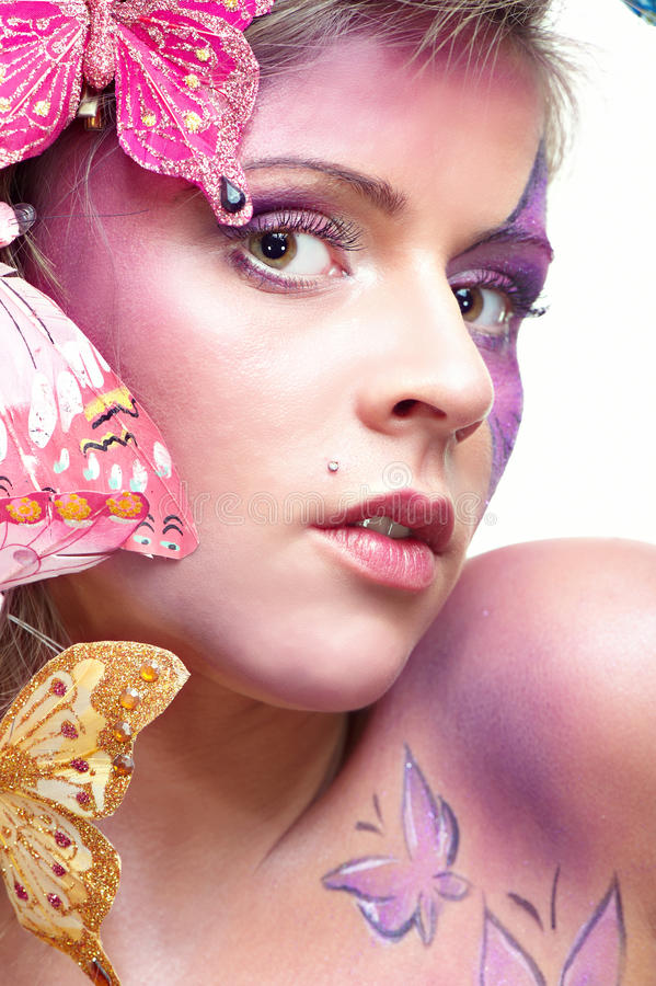 привлекательный портрет способа красотки стоковая фотография rf