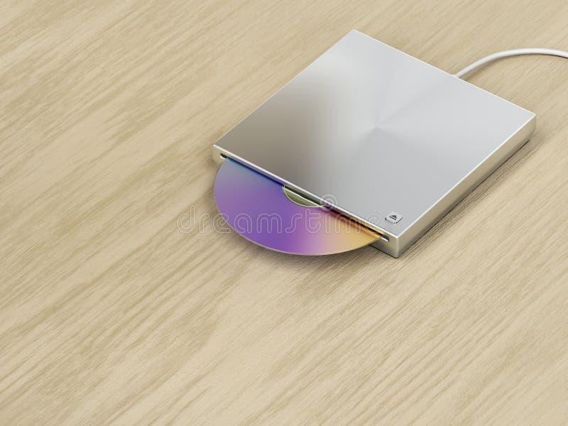 привод оптического диска Слот-загрузки иллюстрация вектора
