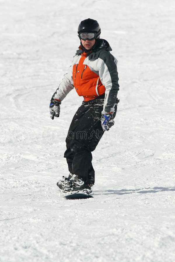 Привод Snowboarder доска стоковые фото
