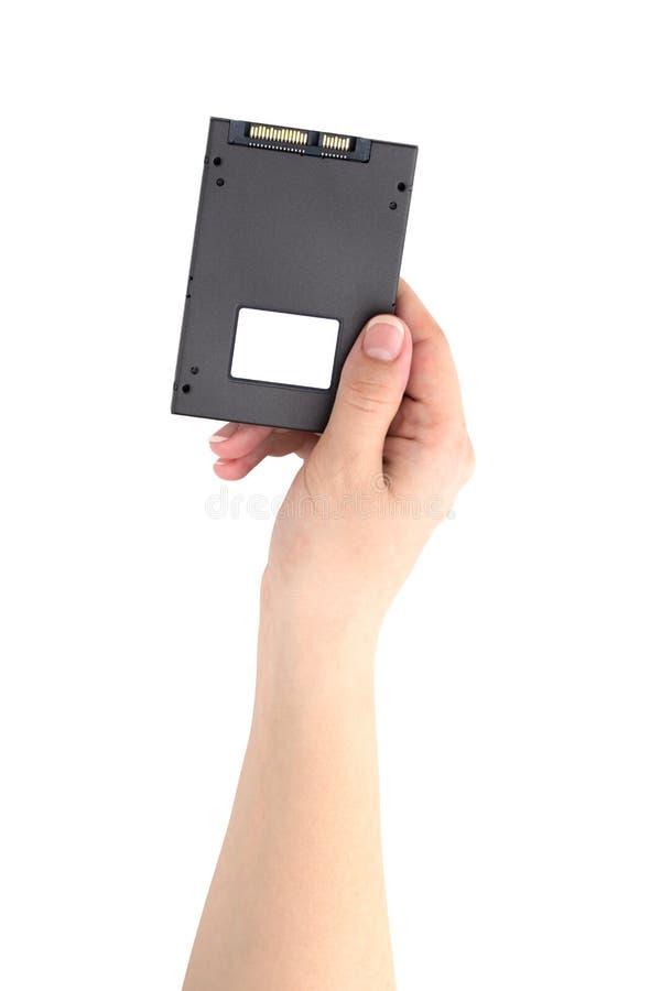 Привод SSD изолированный на белой предпосылке стоковое изображение