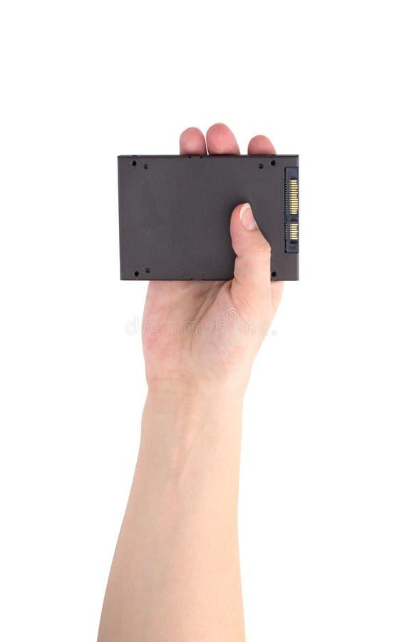 Привод SSD изолированный на белой предпосылке стоковые фото