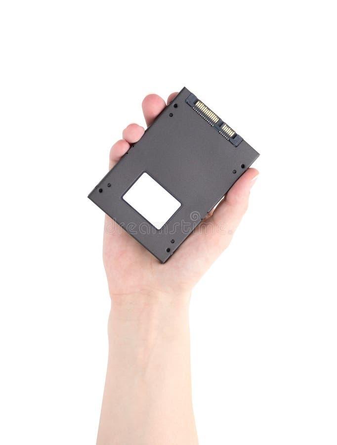 Привод SSD изолированный на белой предпосылке стоковые изображения