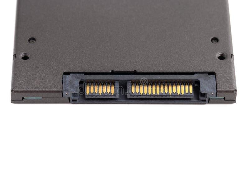 Привод SSD изолированный на белой предпосылке стоковое изображение rf