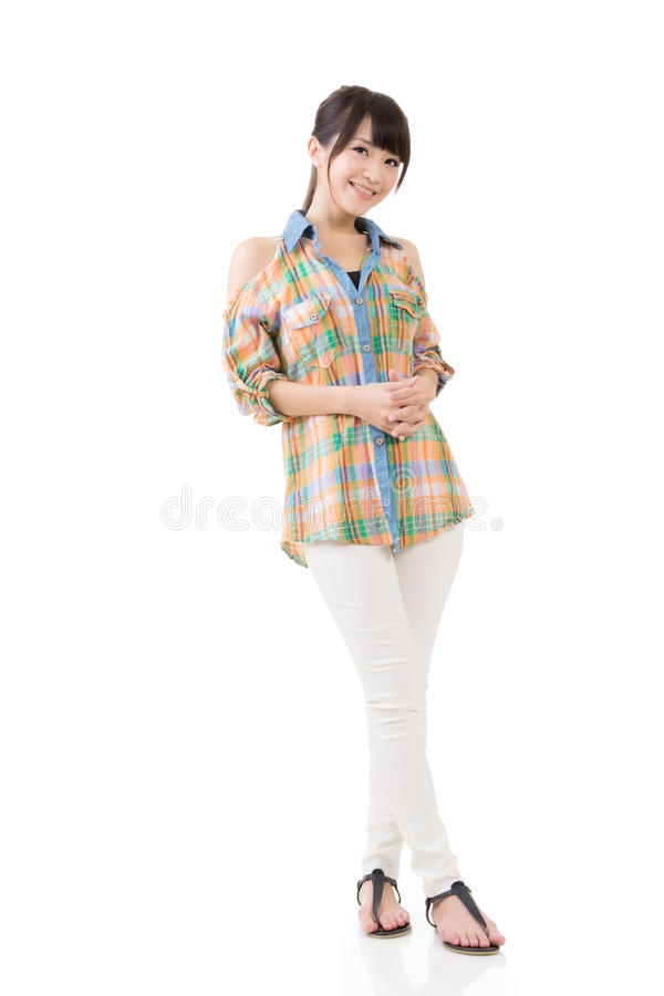 Download Привлекательная азиатская женщина Стоковое Фото - изображение насчитывающей excited, счастливо: 37925488