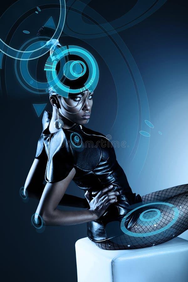 Привлекательная африканская женщина стоковое изображение