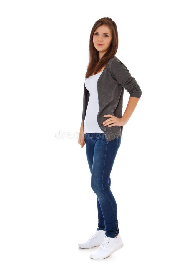 привлекательная девушка подростковая стоковые изображения