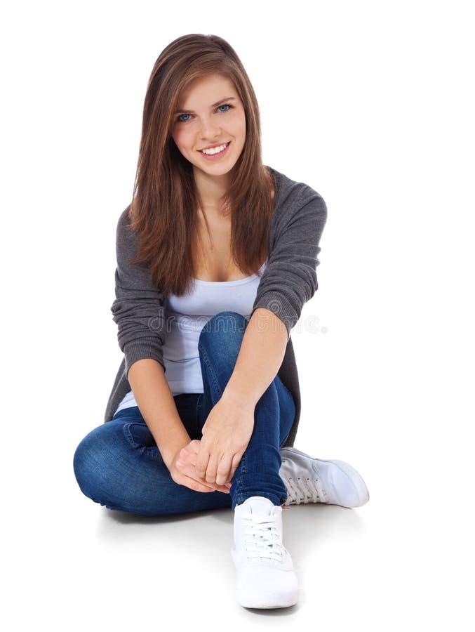 привлекательная девушка подростковая стоковое фото rf