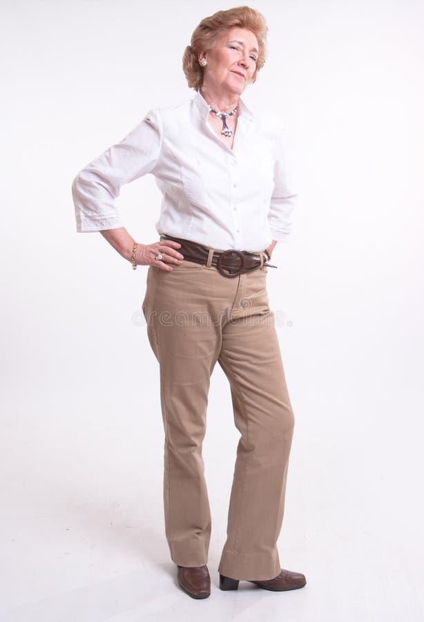 привлекательная старшая женщина стоковое фото rf