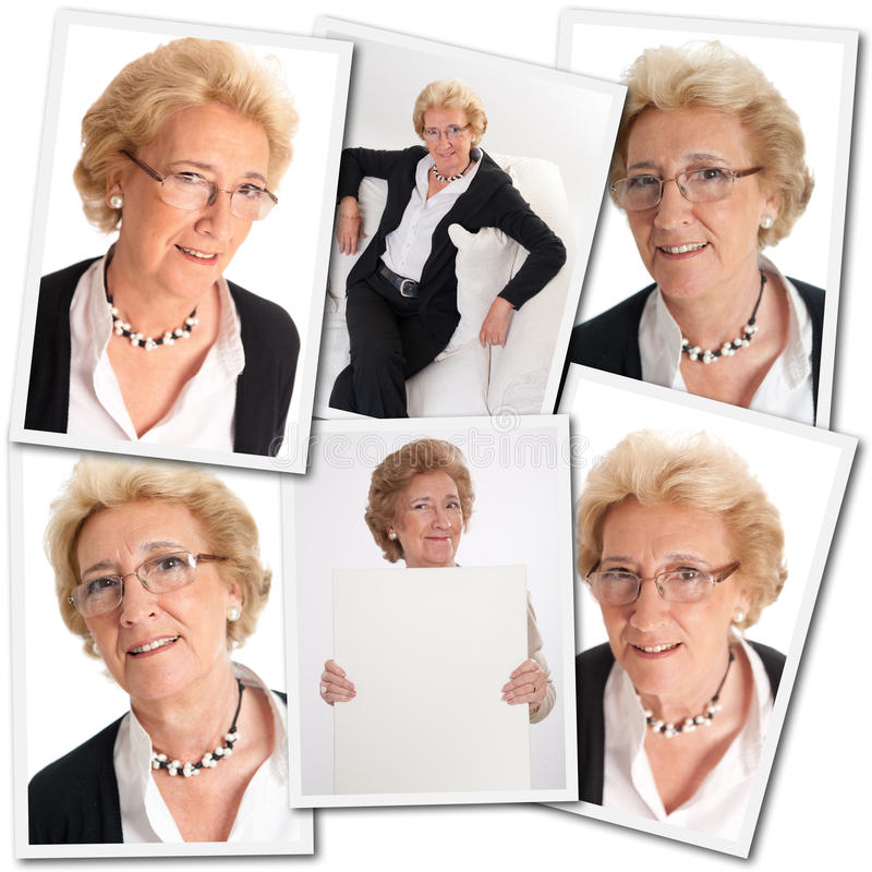 Привлекательное старшее собрание женщины стоковые изображения rf