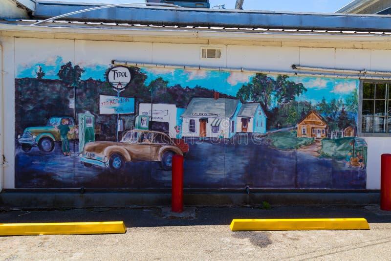 Привлекательность обочины настенной росписи трассы 6 стоковое фото