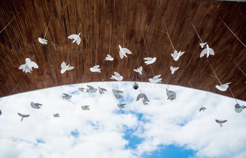 Привлекательность Sorochinskaya деталей культуры архитектуры мира голубей Украины справедливое стоковые фото