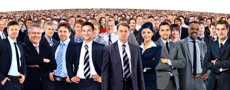 привлекательные бизнесмены молодые стоковое изображение rf