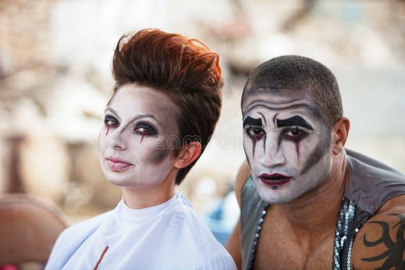 Привлекательные совершители Cirque стоковые изображения rf