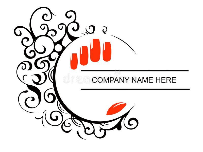 Пригвождает логотип салона иллюстрация штока