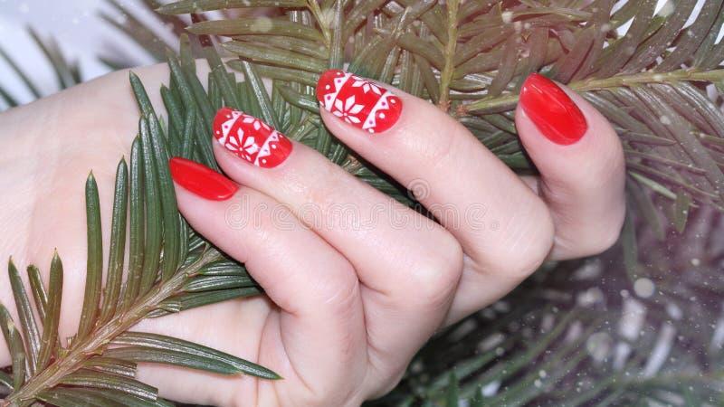 Пригвоздите manicure искусства стоковая фотография
