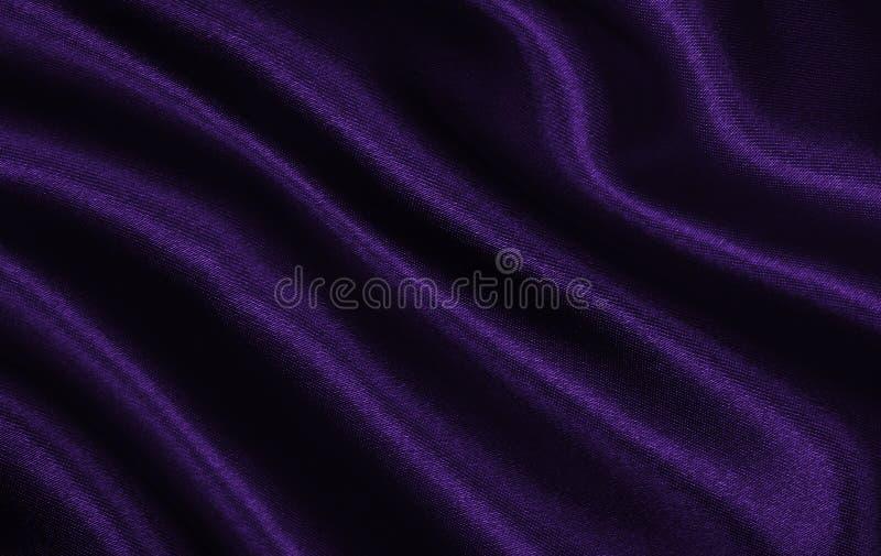 Приглаживайте элегантную текстуру ткани шелка или сатинировки сирени роскошную как abstr стоковая фотография